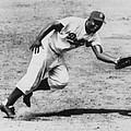 Jackie Robinson, Fielding Third Base by Everett