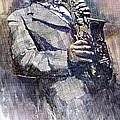 Jazz Saxophonist Charlie Parker Print by Yuriy  Shevchuk