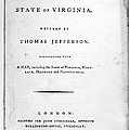 JEFFERSON: TITLE PAGE, 1787 Print by Granger