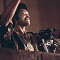 Jesse Jackson Speaks On A Radio by Everett