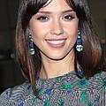 Jessica Alba Wearing Vintage Earrings by Everett