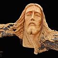 Jesus Christ Wooden Sculpture -  Four by Carl Deaville
