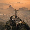 Jesus in Rio Print by Christian Heeb