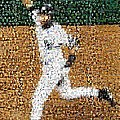 Jeter Walk-Off Mosaic Print by Paul Van Scott