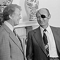 Jimmy Carter With Israeli Foreign by Everett