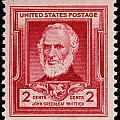 John Greenleaf Whittier postage stamp Print by James Hill