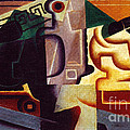 Juan Gris Glas Und Karaffe by Pg Reproductions