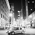 Junction Of Salisbury Road And Nathan Road Tsim Sha Tsui Kowloon At Night Hong Kong Hksar China Asia by Joe Fox
