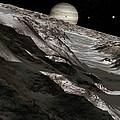 Jupiter From Ganymede, Artwork by Detlev Van Ravenswaay