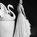 Kay Francis Modeling White Chiffon by Everett