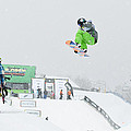 Kelly Clark Womens U S Snow Boarding Open 2011 by Linda Pulvermacher