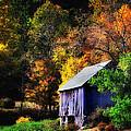 Kent Hollow II - New England rustic barn Print by Thomas Schoeller