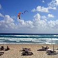 Kite Boarding In Boca Raton Florida by Merton Allen