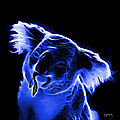 Koala Pop Art - Blue by James Ahn