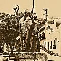 La Rogativa Sculpture Old San Juan Puerto Rico Rustic by Shawn O'Brien