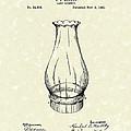 Lamp Chimney 1895 Patent Art by Prior Art Design