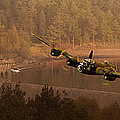 Lancaster Over The Dams by Nigel Hatton