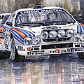 Lancia 037 Martini Rally 1983 Print by Yuriy  Shevchuk