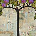 Landscape Art Tree Painting Past Visions Print by Blenda Studio