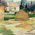 Landscape Near Arles by Paul Gauguin