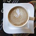 Latte With A Leaf Design by Jaak Nilson