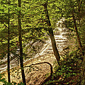 Laughing Whitefish Falls 2 Print by Michael Peychich
