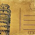 Leaning Tower Of Pisa Postcard by Setsiri Silapasuwanchai