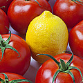 Lemon And Tomatoes by Garry Gay