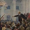 Lenin 1870-1924 Declaring Power by Everett