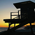 Lifeguard Silhouette by Mariola Bitner