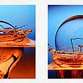 light bulb drop in to the water Print by Setsiri Silapasuwanchai