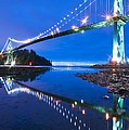 Lions Gate Bridge, Vancouver, Canada by David Nunuk