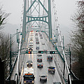 LIONS MIST Lions Gate Bridge from Stanley Park Vancouver BC Print by Andy Smy