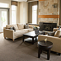 Living Room In An Upscale Home by Shannon Fagan