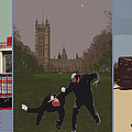 London Matrix triptych Print by Jasna Buncic