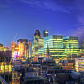 London Skyline At Night by Gregory Warran