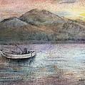 Lone Fisherman by Arline Wagner
