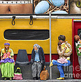 Lonely Travelers - Crop Of Original - To See Complete Artwork Click View All by Anne Klar