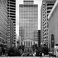 Looking Up Deaderick Street Towards War Memorial Plaza And The William Snodgrass Tennessee Tower by Joe Fox
