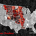 Louisiana Purchase Coin Map . V1 by Wingsdomain Art and Photography
