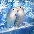 Love At Christmas Card Print by Carol Cavalaris