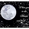 Love you to the moon and back Print by Michelle Frizzell-Thompson