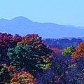 Lovely Asheville Fall Mountains Print by Ray Mapp