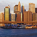 Lower Manhattan and the Brooklyn Bridge Print by Jeremy Woodhouse