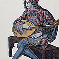 Lute Player, 1839 by Granger