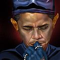 Mad Men Series 1 Of 6 - President Obama The Dark Knight by Reggie Duffie