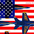 Made In The Usa . Blue Angels by Wingsdomain Art and Photography