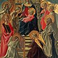 Madonna and Child enthroned with Angels and Saints Print by Fra Filippo Lippi
