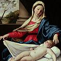 Madonna And Child  by II Sassoferrato