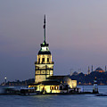 Maiden's Tower  At Sunset by Ayhan Altun